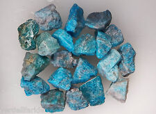 "5 LB BLUE APATITE  1""  Bulk Rough Tumbling Rock Stones 11,000+ CARATS"