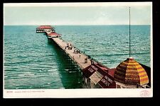 1904 Photo Studio Sign Ocean Pier Old Orchard Maine postcard