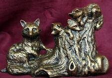 Fox Family Children Pup Baby Animal Statue Nature 24121