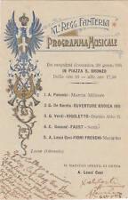 * MILITARE WWI - 47° Regg.Fanteria - Programma Musicale