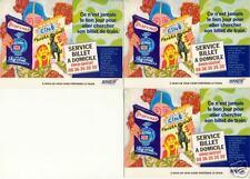 3 cartes postales Publicitaires SNCF / A nous de vous faire préférer le train
