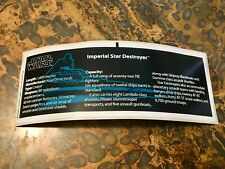 LEGO STAR WARS UCS STAR DESTROYER 10030 REPLACEMENT STICKER DECAL ONLY NO LEGOS!