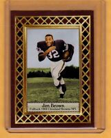 Jim Brown '64 Cleveland Browns, Fan Club serial numbered /300