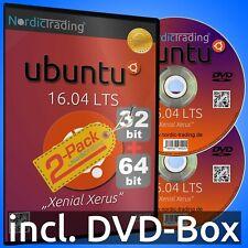 Ubuntu 16.04.6 LTS 2-Pack 32+64bit DVDs Linux Betriebssystem Markenware