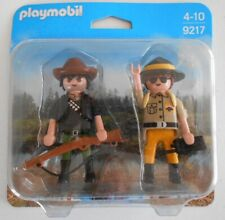 Playmobil Personnage DuoPack Garde forestier et braconnier Set 9217 NEUF  - #124