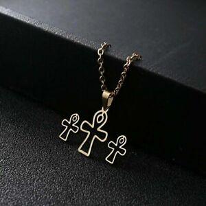 Gold Cross Stainless Steel Jewellery Set