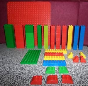 LEGO DUPLO 125 Teile, mit großer und kleiner Grundplatte, Sondersteine