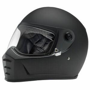 Biltwell Lane Splitter Full Face Motorcycle Motorbike Helmet Flat Black
