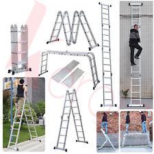 Keraiz Multi Function Silver 4.75M / 4x4Aluminium Foldable Extension Ladder Step