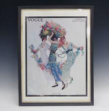 VOGUE COVER JUNE 1913 FRAMED ART NOUVEAU PRINT VINTAGE 1970