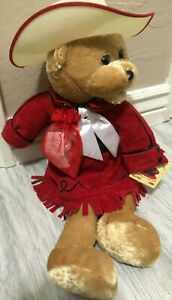 """Chantilly Lane Musicals Bear Red Hat Singing """"Never Ending Love For You"""" NWT"""