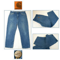 CARHARTT Vintage Blue Denim Jeans Straight Leg Workwear Relaxed Fit W38 L32