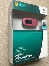 NEW - Logitech Webcam C260Widescreen  Video Calling Recording Messenger - PINK