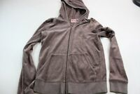 GIRL'S Juicy Couture Velour Zippered Hoodie Sweater YOUTH Medium M