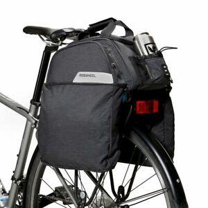 Roswheel Essential Series 12ltr Expanding Rear Rack Bag trunk pannier bike large