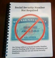 Social Security Number Not Required Manual