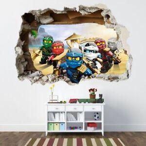 130cm WANDAUFKLEBER Loch 3D LEGO NINJAGO Wand Aufkleber Wandtattoo 107