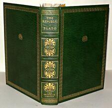Plato - The Republic - HB Franklin Library , Ltd Edition, 1975 Leather