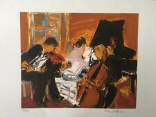 "ROLAND LEFRANC ""musiciens"" Lithographie"