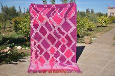 Moroccan vintage handmade berber rug of wool azilal carpet very good quality