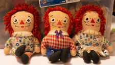 Vintage Lot Of 3 Knickerbocker Raggedy Ann And Andy Dolls 6 Inch c1960's