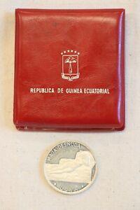 1970 EQUATORIAL GUINEA PROOF SILVER 100 PESETAS NUDE MAJA BY GOYA w/CACHET & COA