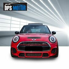 JCW Style PP Front Bumper Body Kit Lip Grille For 2014-17 Mini Cooper F55 56 57