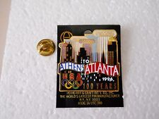 "Vintage 1996 Atlanta Centennial Olympics ""Athens to Atlanta"" cut-out style pin"