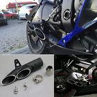 Dual Road Racing Motorcycle Exhaust Pipe Refit Muffler Pipe 51mm Universal Black