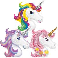 """Supershape 42"""" Unicorn Head Foil Rainbow Purple Pink Balloon Birthday Party UK"""