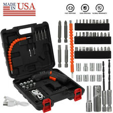 49Pcs Rechargeable 45 In 1 Cordless Electric Screwdriver Tool Bit Kit Power Tool