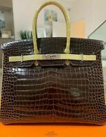 Hermès Birkin 35 Crocodile Bag Handbag Porosus New