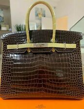 Hermès Birkin 35 Crocodile Bag Handbag Porosus New