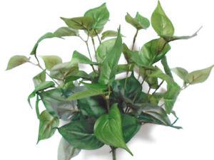 """PHILO Bush Artificial Silk Greenery 17"""" Plant 12 - 80020"""