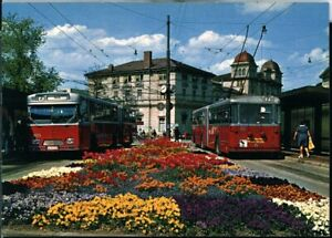 Postcard VW Verkehrsbetriebe Winterhur 303+113 Winterhur Switzerland 1970s origi