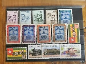 14 timbres Togo (**/*)    (lot  134 )