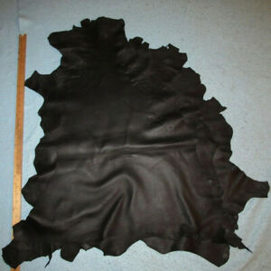 Lot of 5 Black Sheepskin Leather Hides Soft Crafting Sheep Skins 26 sf Scouts