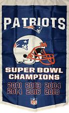 New England Patriots Super Bowl Championship Flag 3x5 ft Sports Banner Man-Cave