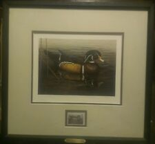 AUTHENTIC 2001 DUCKS UNLIMITED PRINT & STAMP ARTIST SIGNED & NUMBERED COA