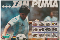 PUMA Diego Maradona Football Shoes Original 1987 Vintage Print Ad 2 Pages !!