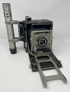 Vintage Graflex Speed Graphic Camera & 3 Cell Flash Lightsaber