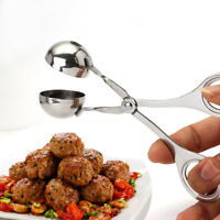 Non Stick Stainless Steel Stuffed Meatball Clip Maker Mold Cooking Kitchen Tool