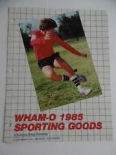 1985 WHAM-O Sporting Goods Toy Fair Catalog Frisbee Hacky Sack Trac-Ball Vintage