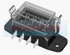 12V 24V 4 vías hoja estándar de servicio pesado Slim Caja de fusible titular Kit de coche furgoneta Marine