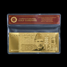 WR Pakistan Gold Banknote Bank of Pakistan 5000 Rupees Money and Banking Notes
