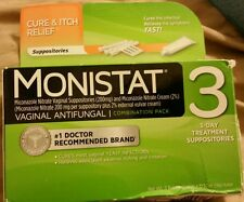 2 (Two) Monistat 3 Day- Treatment Ovules Cure & Itch Relief. Box issues