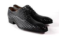 IVAN TROY Black Baye Handmade Italian Leather Dress Shoes/Oxford Office Shoes
