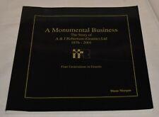 A&J ROBERTSON GRANITE Ltd A Monumental Business 1876-2001 Diane Morgan Aberdeen
