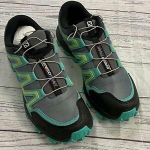 Salomon Speed Trak Green All Terrain Hiking Sneaker Shoes Men Size 9.5