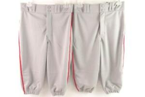 Lot of 2 Champro Sports Youth Baseball Pants Youth Size Large Grey Red